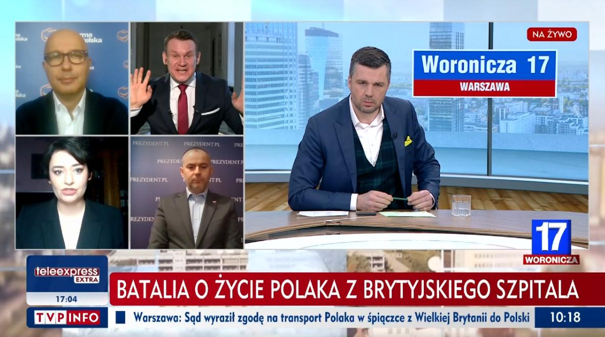 Ostre spięcie na antenie TVP Info. Żukowska do Tarczyńskiego: Zamiast robić z siebie pajaca…