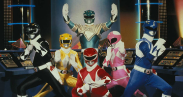 "Kadr z serialu ""Power Rangers"""