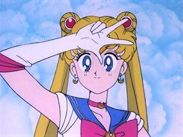 """Kadr z serii """"Sailor Moon: Czarodziejka z Księżyca"""""""