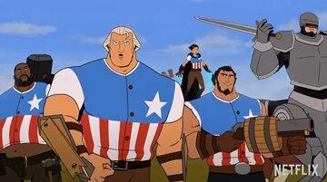 "Kadr z trailera ""America: The Motion Picture"""