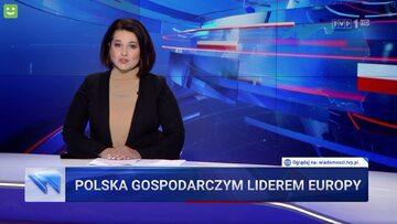 "Kadr z ""Wiadomości"" TVP"