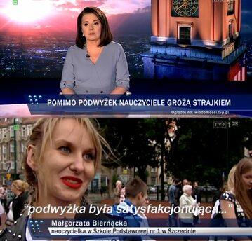 """Kadry z """"Wiadomości"""" TVP"""
