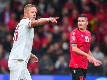 Kamil Glik w meczu z Albanią