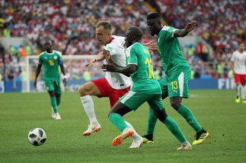 Kamil Grosicki podczas meczu z Senegalem