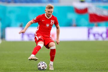 Kamil Jóźwiak w meczu ze Szwecją