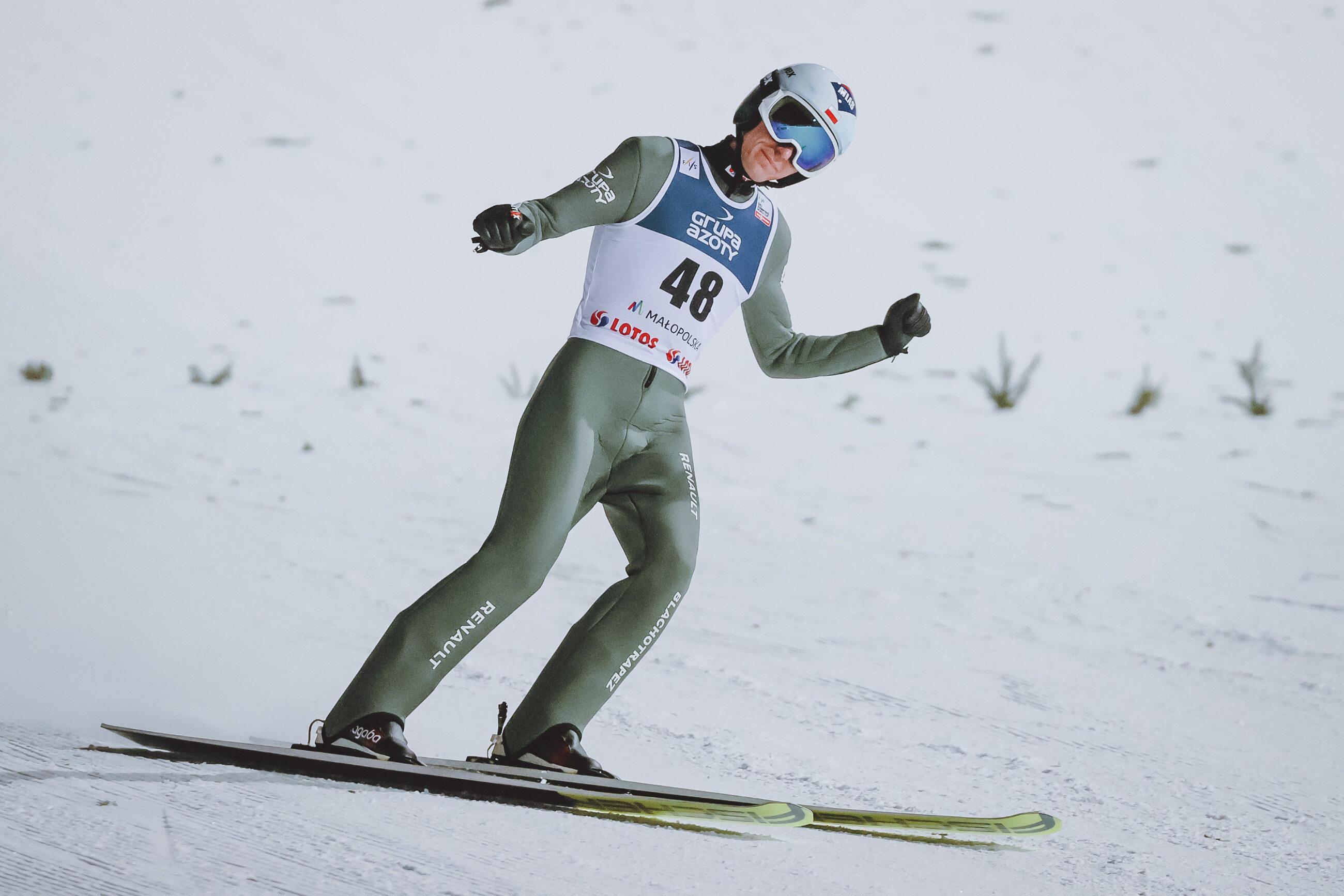 Kamil Stoch podczas konkursu w Zakopanem