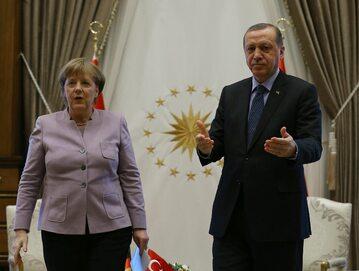 Kanclerz Angela Merkel i prezydent Turcji Recep Tayyip Erdogan