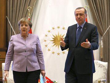 Kanclerz Niemiec Angela Merkel i prezydent Turcji Recep Tayyip Erdogan
