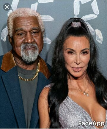 Kanye West i Kim Kardashian postarzeni przez FaceApp