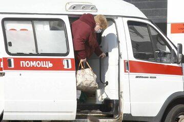 Karetka podczas epidemii koronawirusa w Rosji
