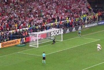 Karny wykonywany przez Jakuba Błaszczykowskiego podczas meczu z Portugalią