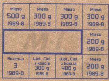 Kartka na mięso z 1989 roku