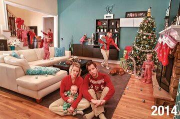 Kartka świąteczna rodziny Stanleyów