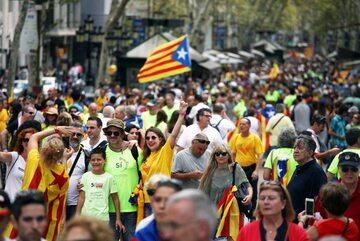 Katalonia, manifestacja zwolenników referendum