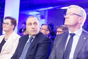 Katarzyna Lubnauer, Grzegorz Schetyna i Jacek Jaśkowiak