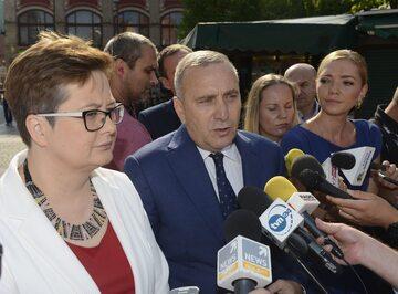 Katarzyna Lubnauer i Grzegorz Schetyna