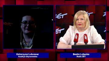 Katarzyna Lubnauer znikneła na chwilę podczas wywiadu na antenie Radia ZET