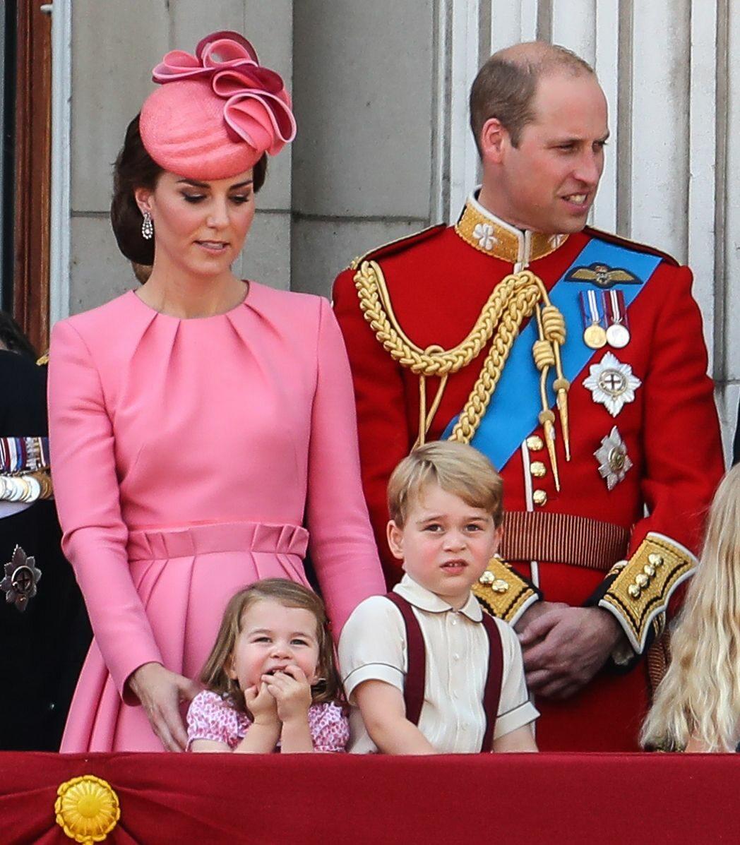 Kate, William, książęta Charlotte i George