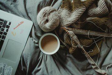 Kawa i włóczka