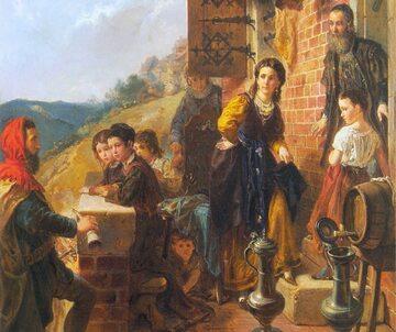 Kazimierz Wielki u Esterki na obrazie Władysława Łuszczkiewicza