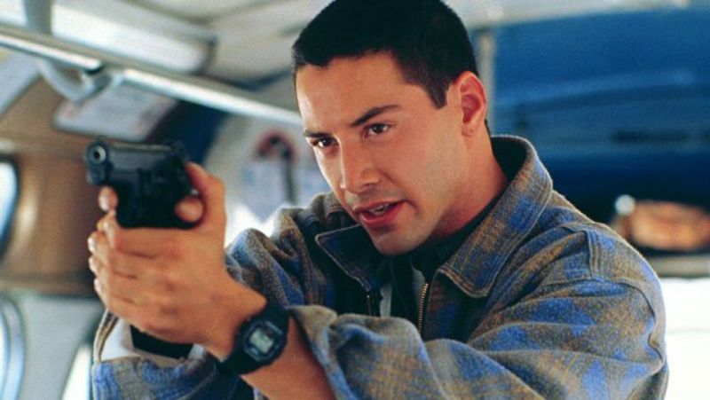 """Keanu Reeves w filmie """"Speed - niebezpieczna prędkość"""" (1994)"""