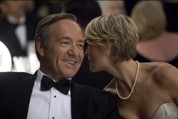 """Kevin Spacey i Robin Wright jako Franck i Claire Underwood w serialu """"House of Cards"""""""