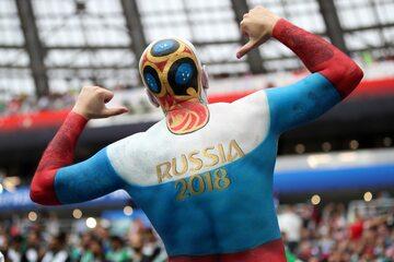 Kibic reprezentacji Rosji
