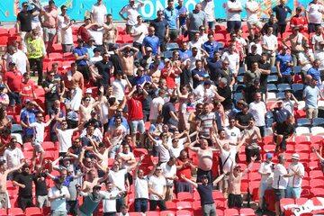 Kibice podzas meczu Anglia - Chorwacja