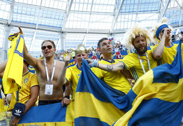 Kibice reprezentacji Szwecji