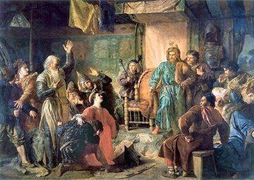 Kiejstut i Witold więźniami Jagiełły (aut. Wojciech Gerson, 1873 rok)