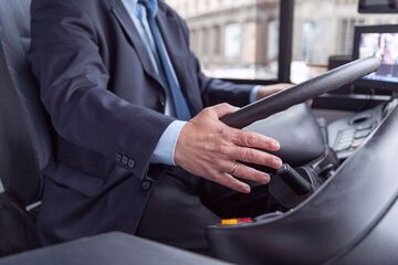 Kierowca autobusu, zdjęcie ilustracyjne