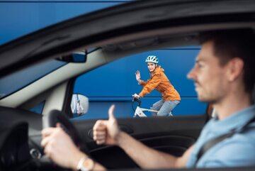 Kierowca i rowerzysta