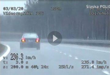 Kierowca jechał 240 km/h