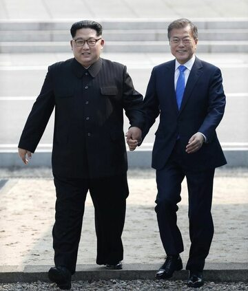Kim Dzong Un i Moon Jae-in