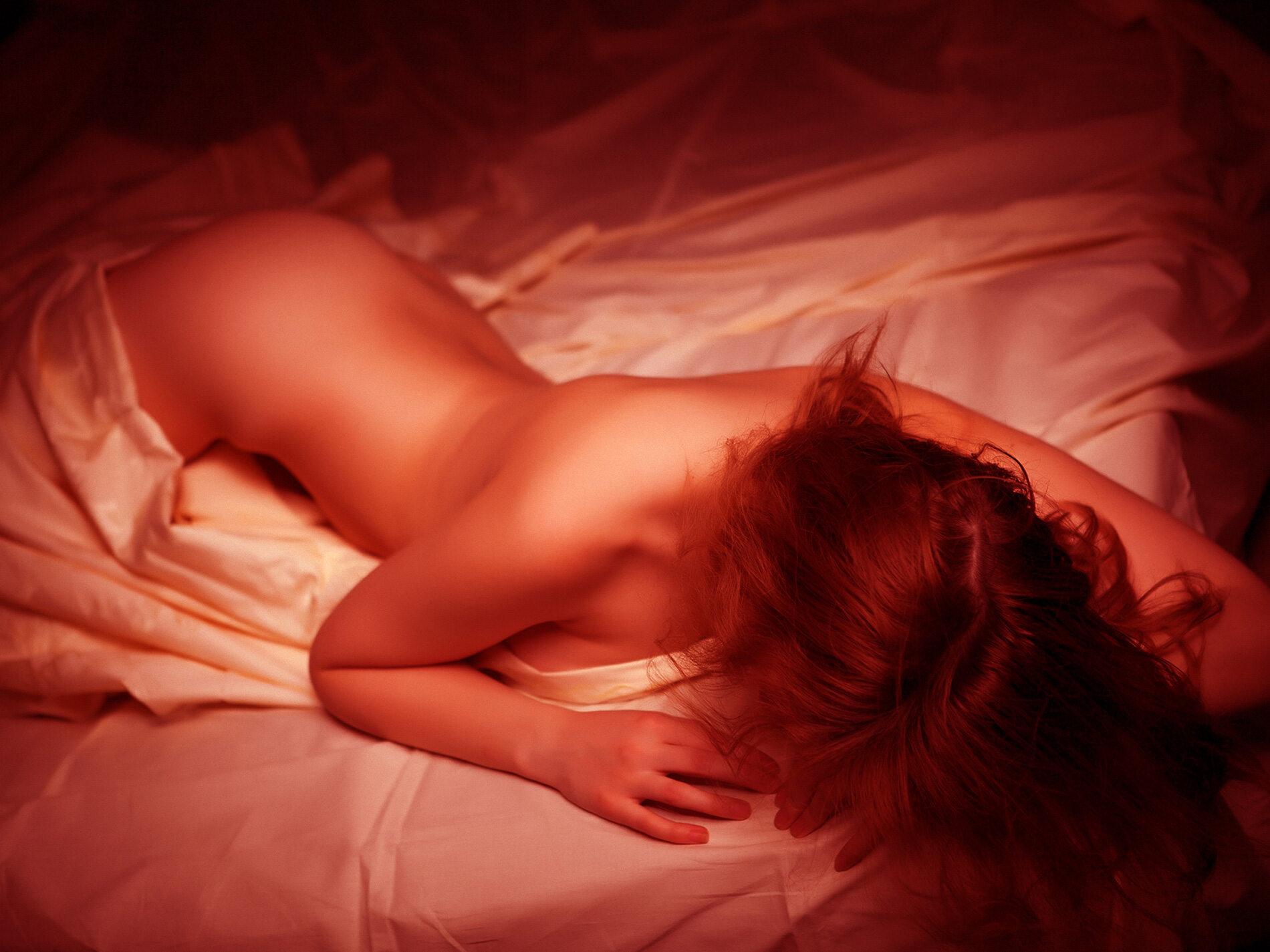 Kobieta w łóżku