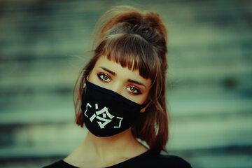 Kobieta w masce
