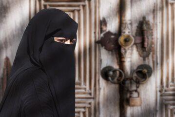 Kobieta w nikabie, zdjęcie ilustracyjne