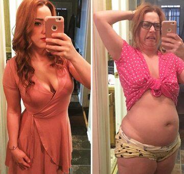 """Kobiety pokazują tzw. zdjęcia """"przed i po"""""""