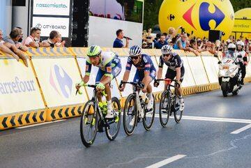Kolarze na trzecim etapie 78. Tour de Pologne
