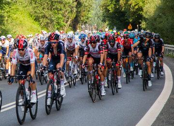 Kolarze podczas Tour de Pologne