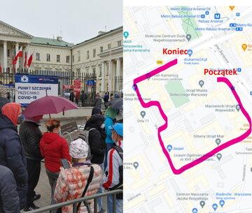 kolejka do szczepienia w Warszawie