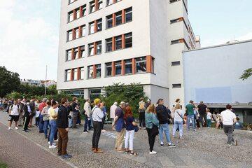 Kolejna do lokalu wyborczego w Berlinie