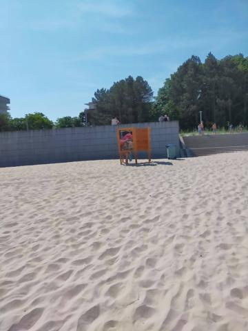 Kołobrzeg. Przebieralnia na plaży