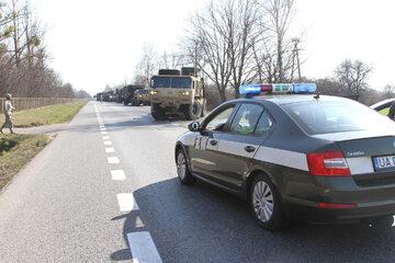 Kolumna pojazdów US Army