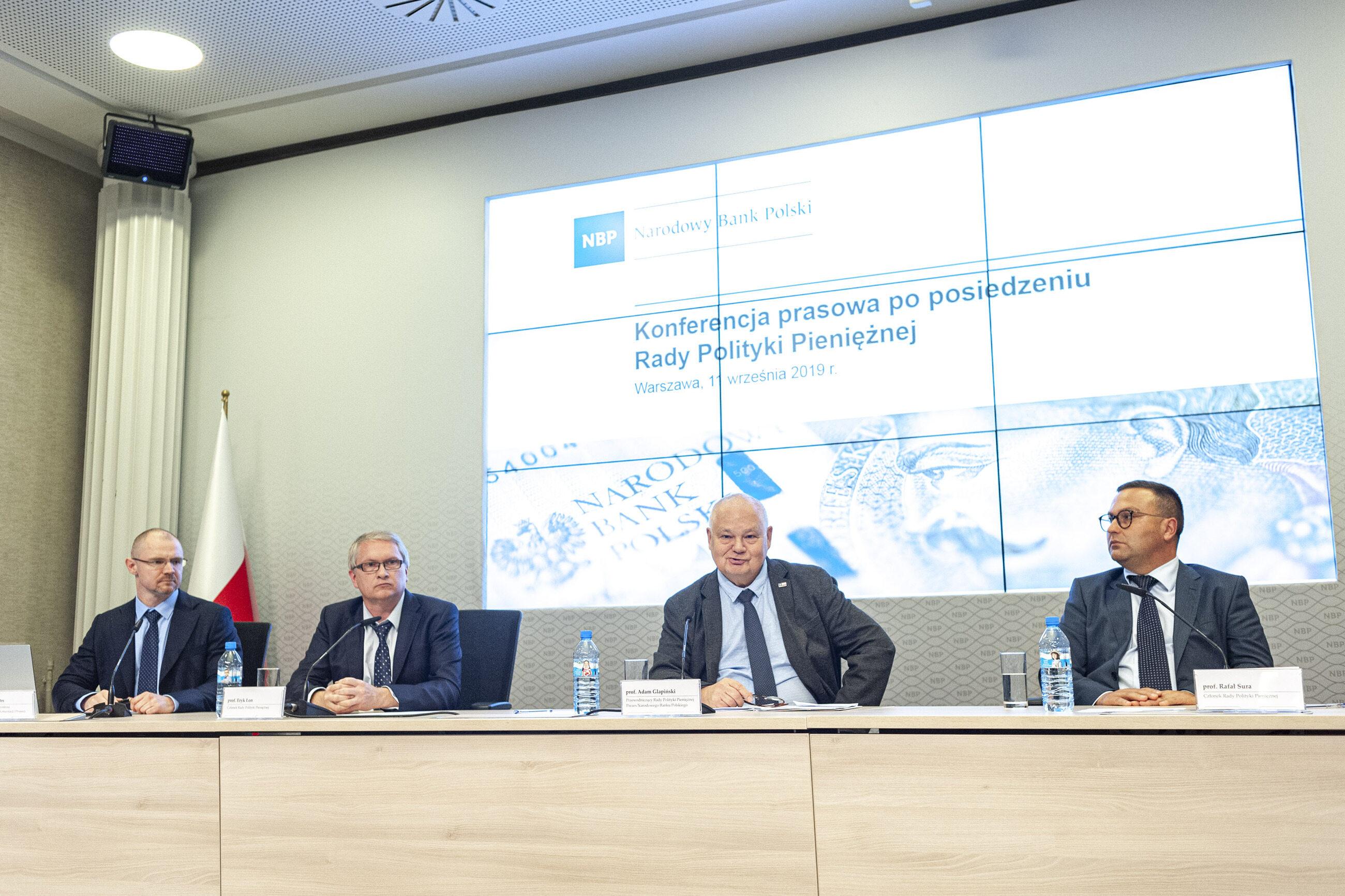 Konferencja po posiedzeniu Rady Polityki Pieniężnej w 2019 roku