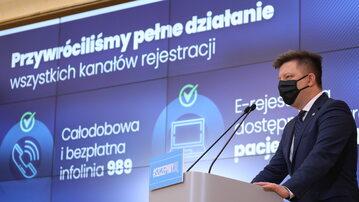 Konferencja prasowa ministra Michała Dworczyka