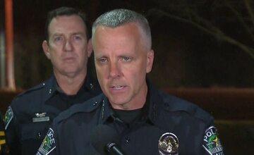 Konferencja prasowa policji w Austin