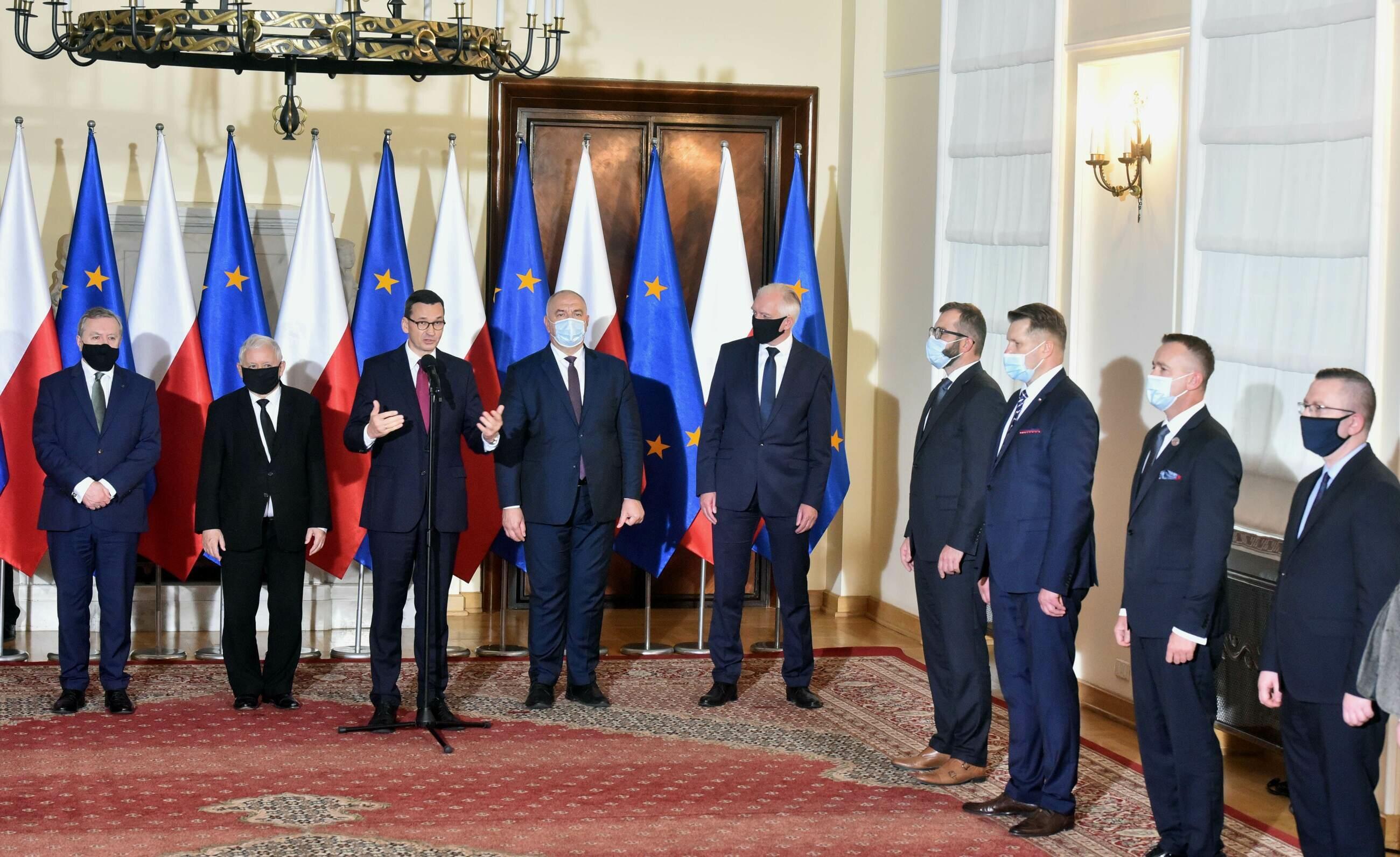 Konferencja prasowa premiera dot. rekonstrukcji rządu