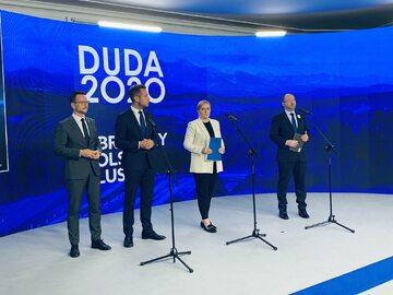 Konferencja prasowa sztabu Andrzeja Dudy