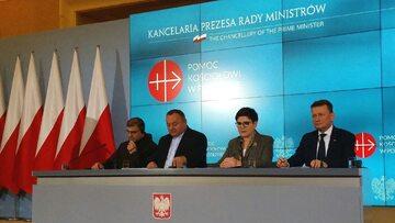 Konferencja prasowa z udziałem Beaty Szydło